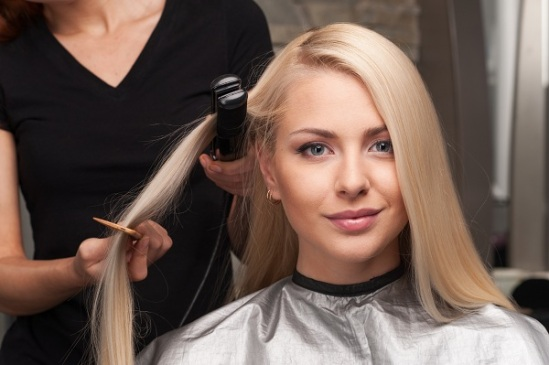 Keratin straightening techniques